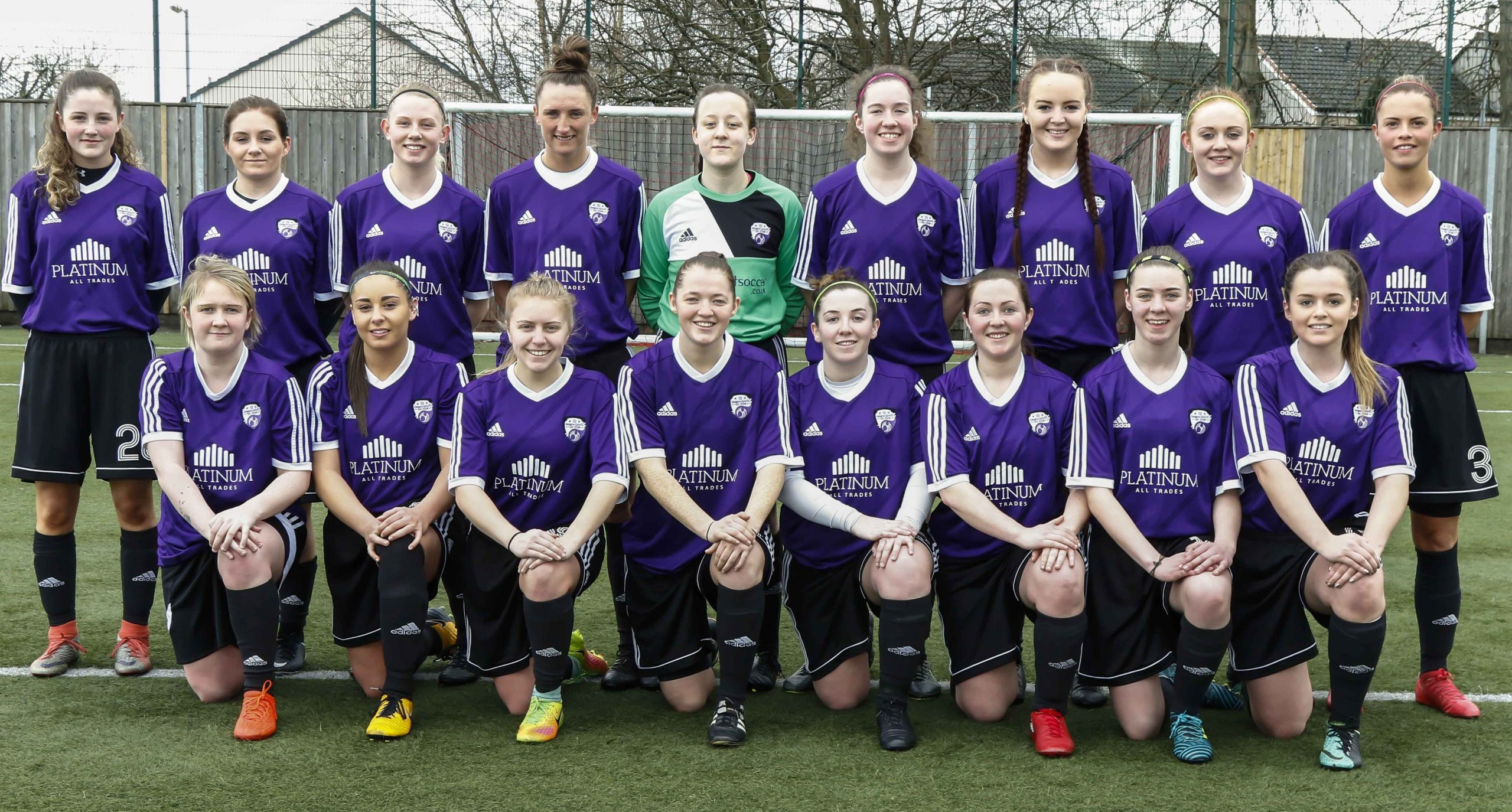 Glasgow Girls FC Scottish Building Society Scottish Womens Premier League 2 Squad Photograph 2018
