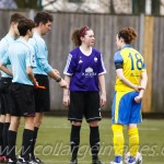 Action from the #SBSSWPL2 at Greenfields. Glasgow Girls FC played host to St Johnstone Womens FC. Handshake and coin toss.