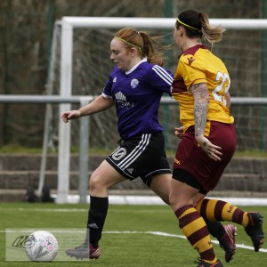 Action from the #SBSSWPL2 at Petershill Park. Glasgow Girls FC played host to St Motherwell LFC.