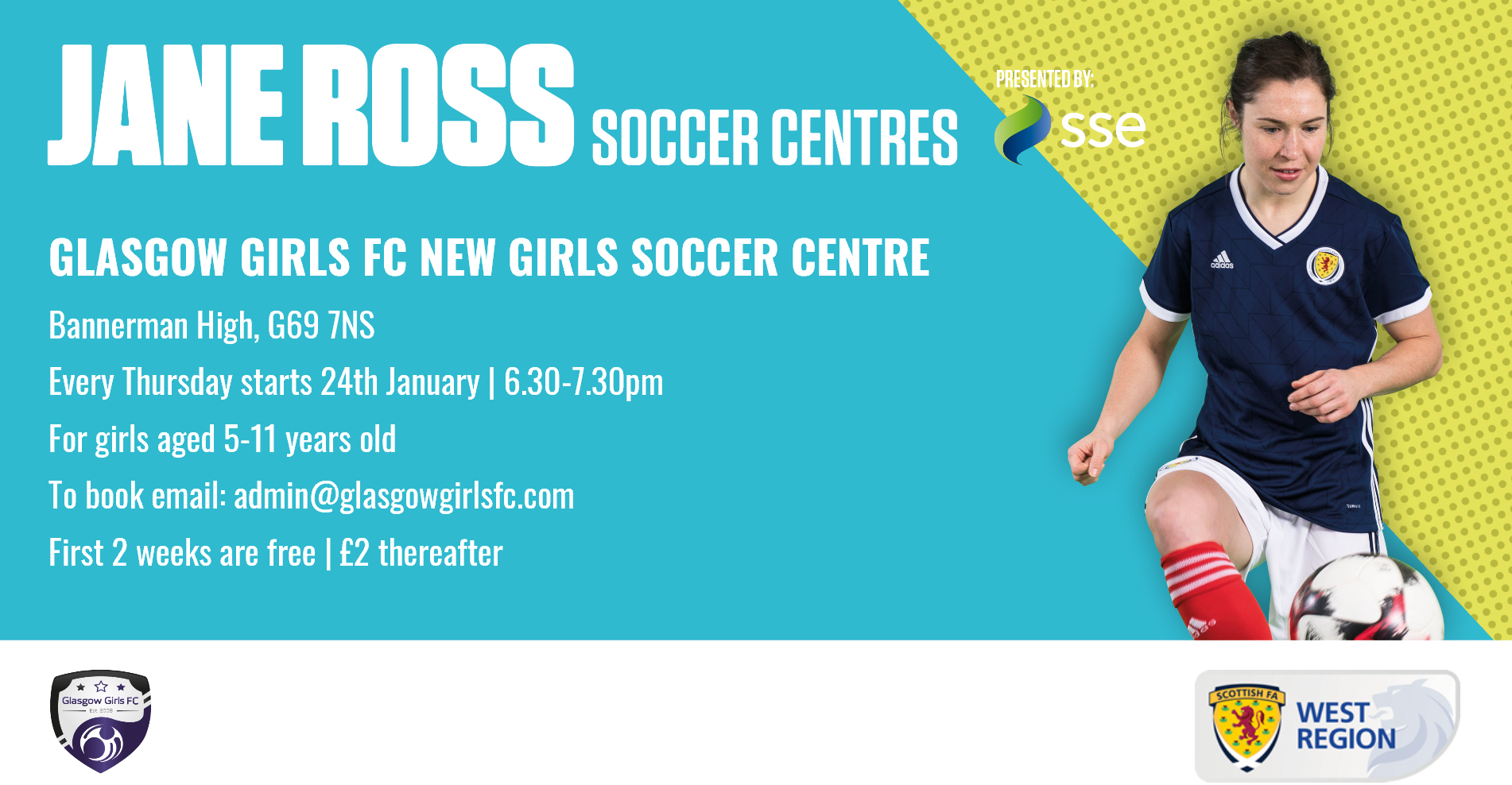 Glasgow Girls Soccer Centre Jan 2019