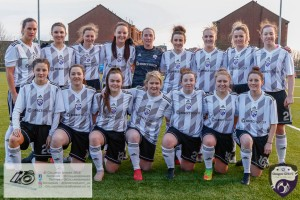 Glasgow Girls FC team Picture proudly displaying their new kit sponsored by Direct Soccer ahead of the opening game of the Scottish Women's Premier League 2 Season Glasgow Girls FC vs Partick Thistle WFC at Petershill Park, Glasgow.
