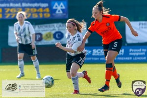 Charmaine McGuire during the Scottish Women's Premier League 2 fixture, Glasgow Girls FC Vs Dundee United FC at Petershill Park in Glasgow, Sunday 21st April 2019.