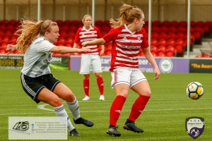Action from the Scottish Building Society Women's Premier league at The Hope CBD Stadium Glasgow Girls Arrived to take on Hamilton Accies.