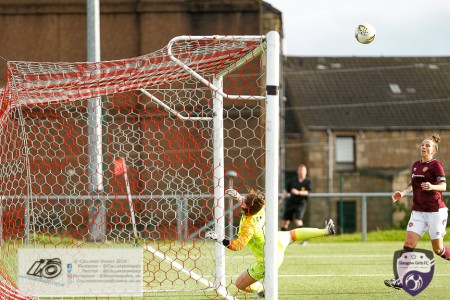 Action from the Scottish Building Society SWPL2 as Glasgow girls looked to take the points of their counterparts from the East. Heart of Midlothian Ladies FC had a different plan.