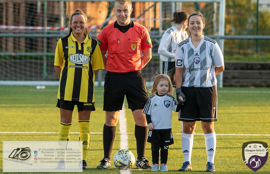 Glasgow Girls FC Vs Hutchison Vale Ladies FC, Glasgow Life Petershill, Glasgow,  Sunday 27th November 2019.